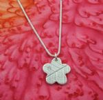 Flower Leaf Pendant with CZ